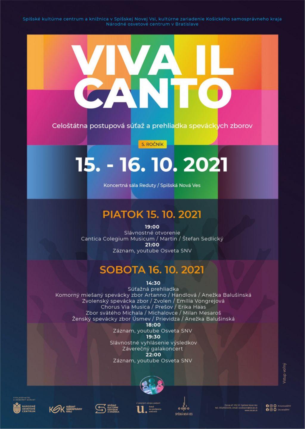 Viva il Canto 2021 | spisskanovaves.eu